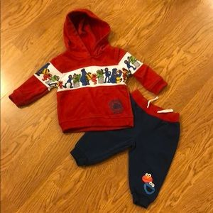 Sesame Street hoodie pants Elmo Cookie Monster